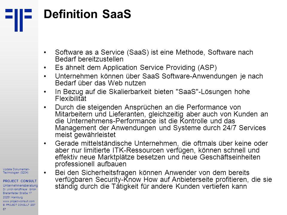 Definition SaaS Software as a Service (SaaS) ist eine Methode, Software nach Bedarf bereitzustellen.