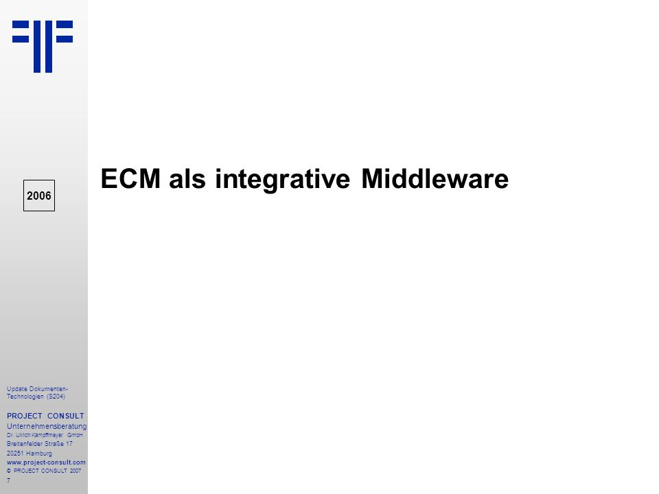 ECM als integrative Middleware
