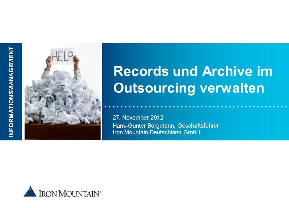 Records und Archive im Outsourcing verwalten