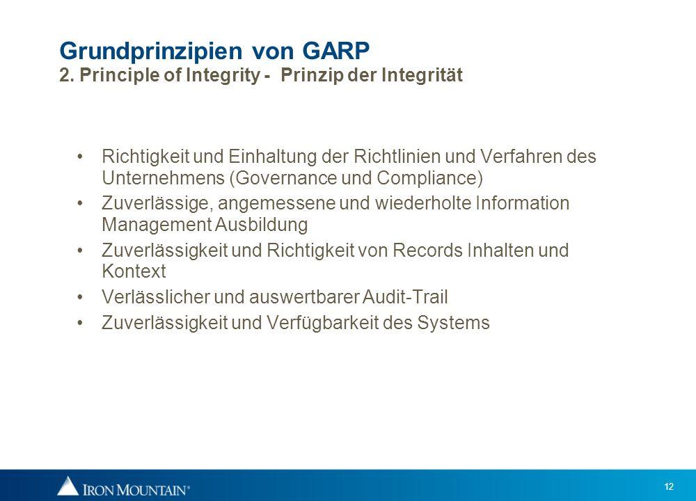 Grundprinzipien von GARP 2