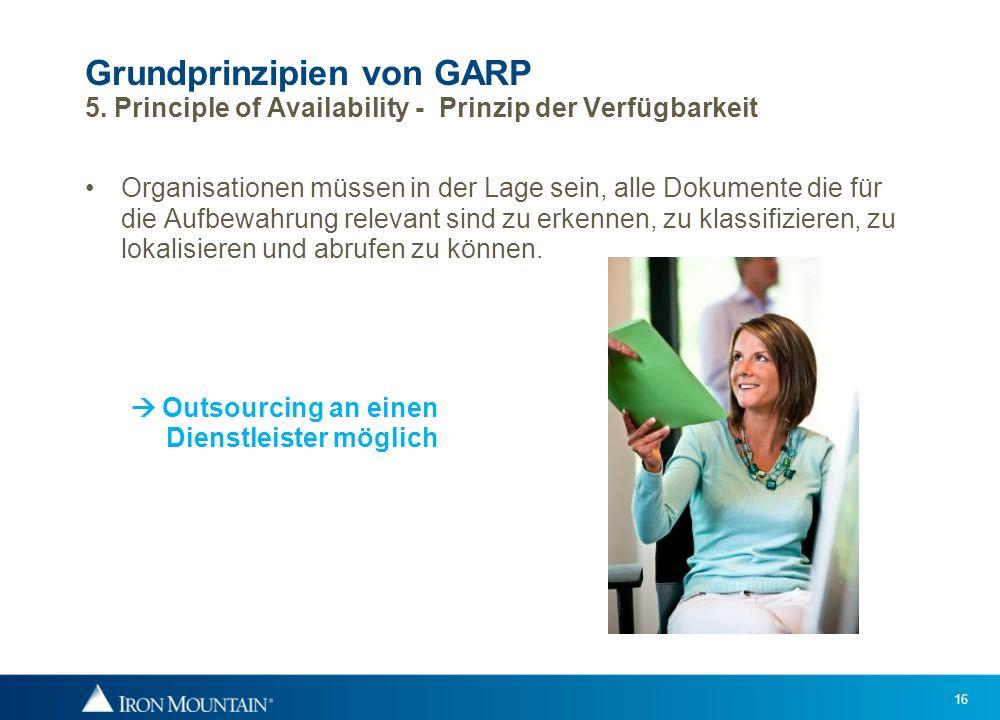 Grundprinzipien von GARP 5
