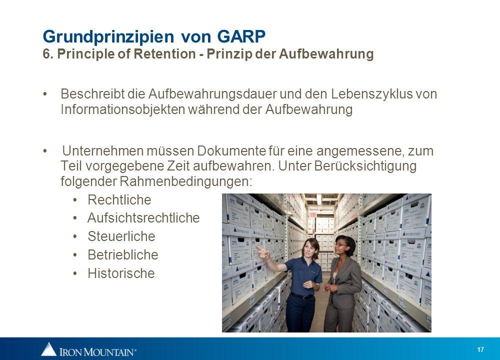 Grundprinzipien von GARP 6
