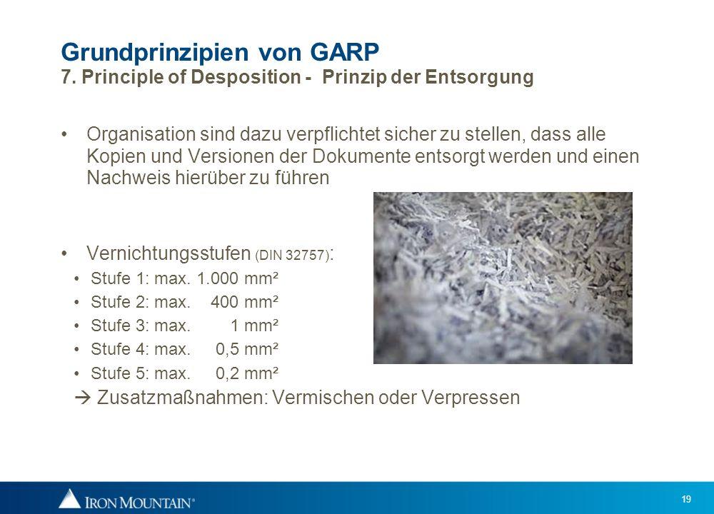 Grundprinzipien von GARP 7