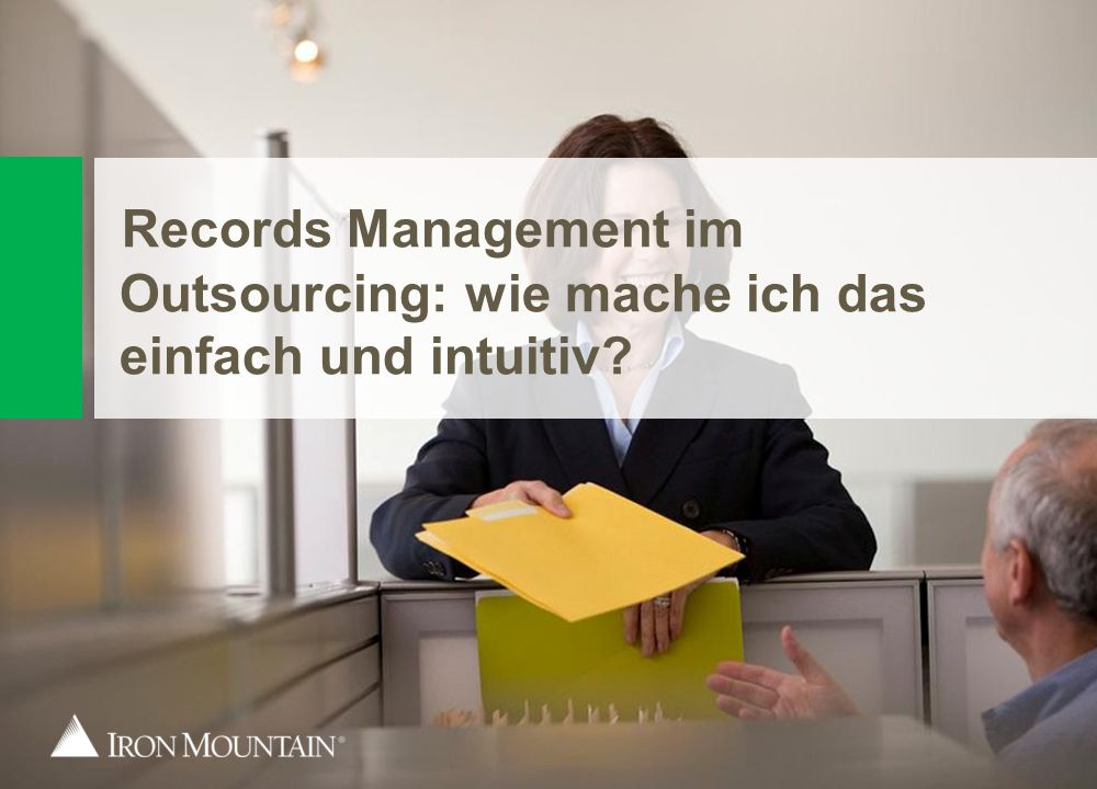 Records Management im Outsourcing: wie mache ich das