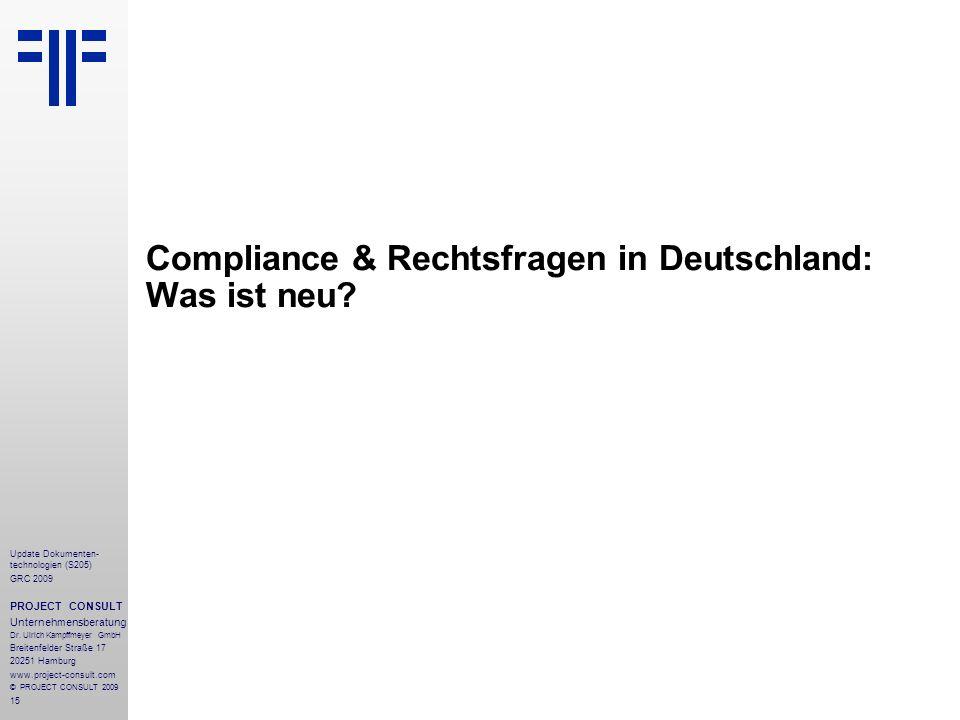 Compliance & Rechtsfragen in Deutschland: Was ist neu