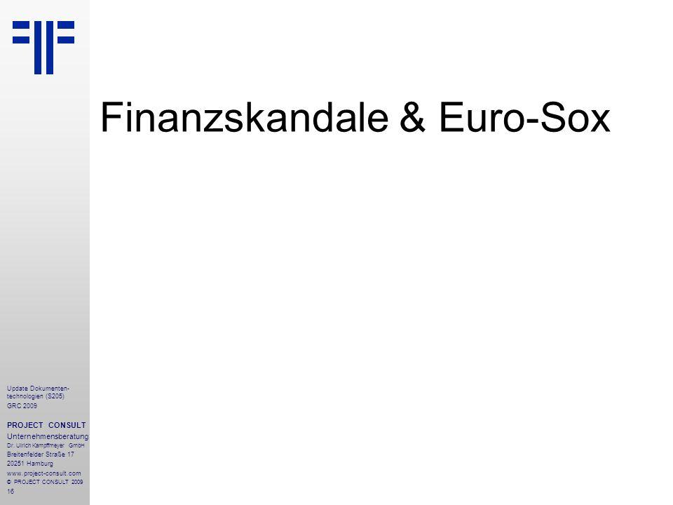 Finanzskandale & Euro-Sox