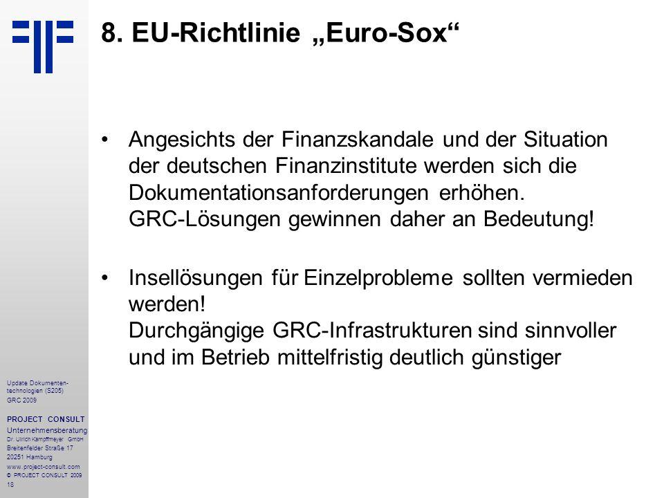 """8. EU-Richtlinie """"Euro-Sox"""