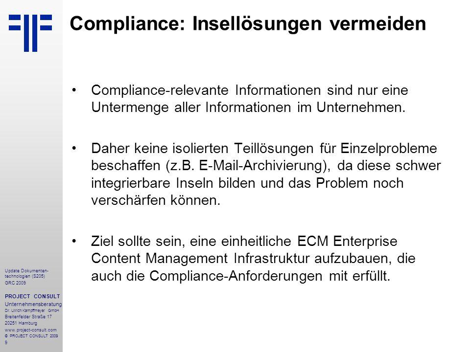 Compliance: Insellösungen vermeiden