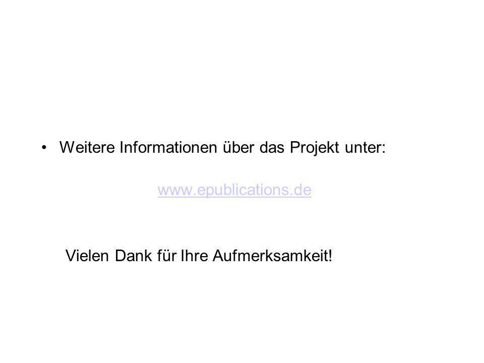 Weitere Informationen über das Projekt unter: