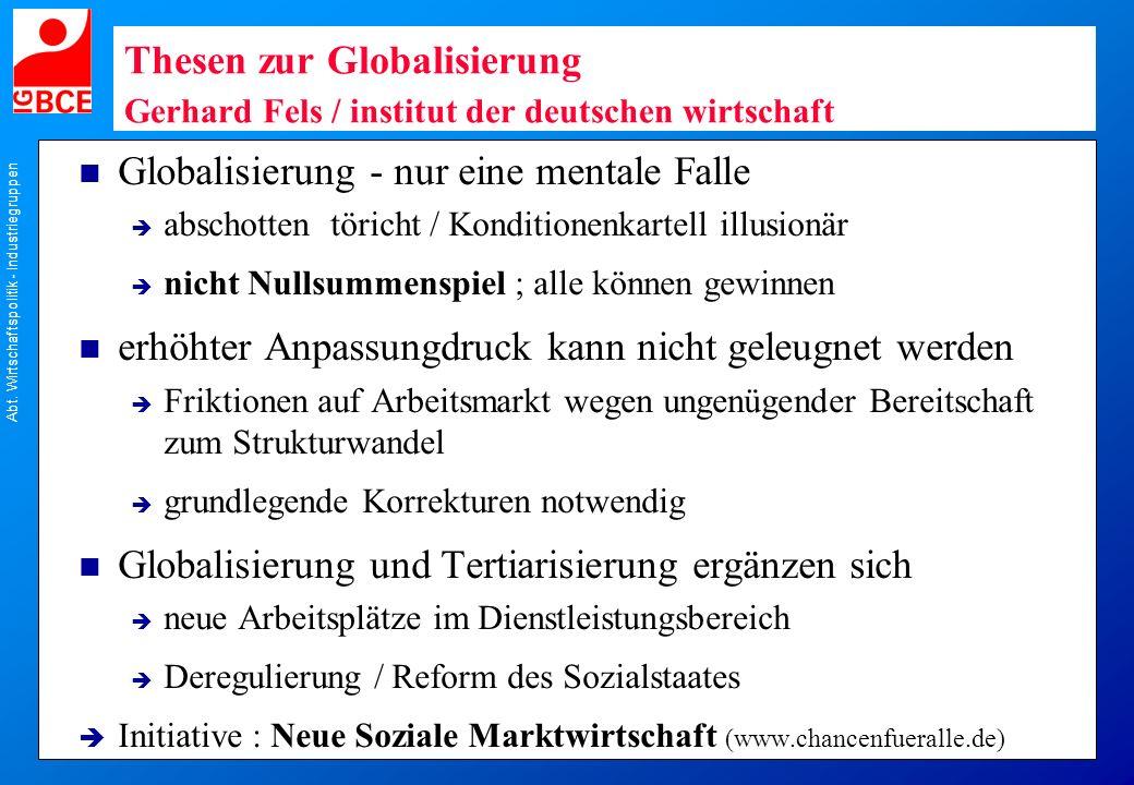 Globalisierung - nur eine mentale Falle