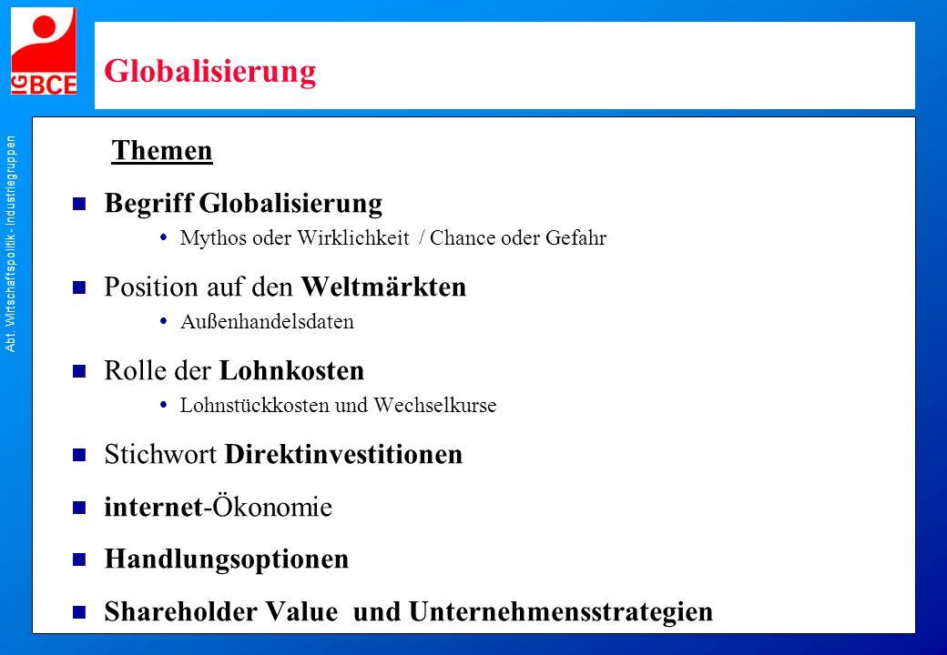 Globalisierung Themen Begriff Globalisierung