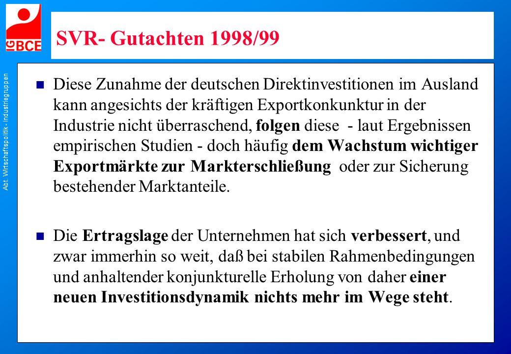 SVR- Gutachten 1998/99