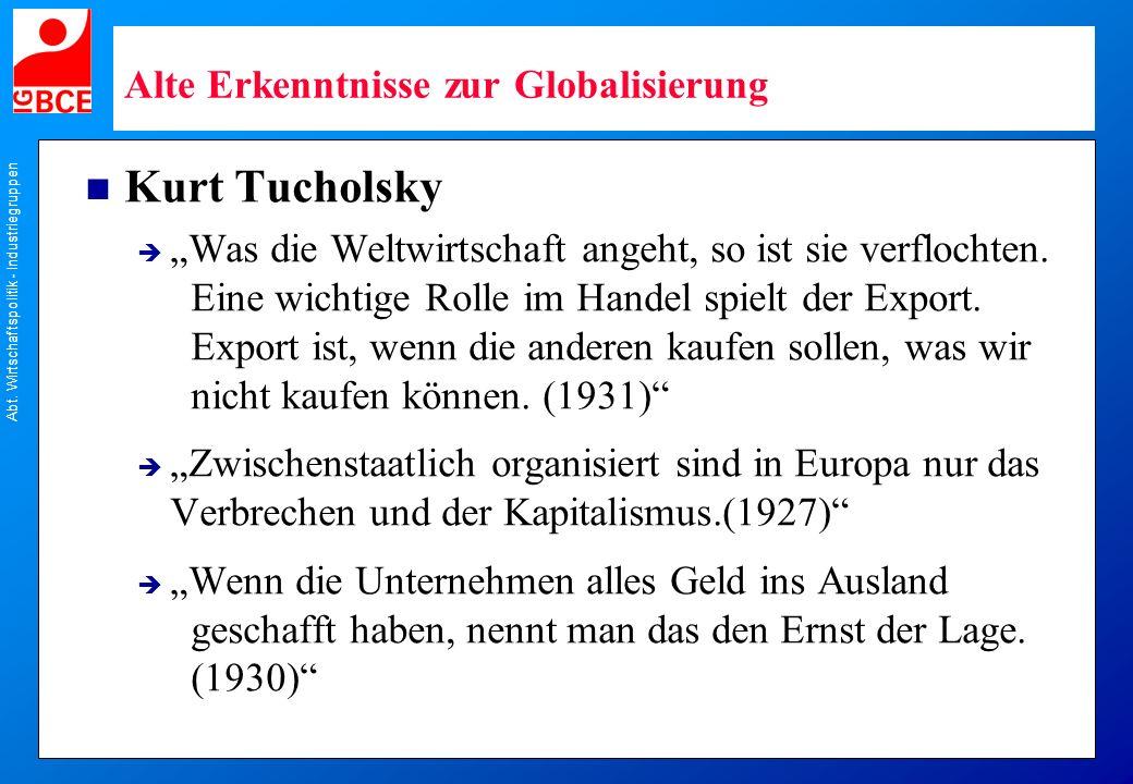 Alte Erkenntnisse zur Globalisierung