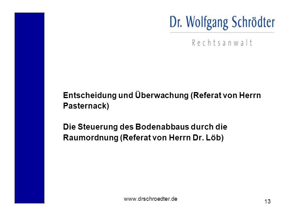 Entscheidung und Überwachung (Referat von Herrn Pasternack)