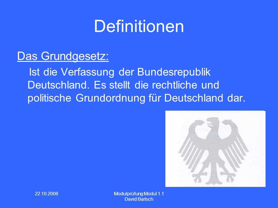 Definitionen Das Grundgesetz: