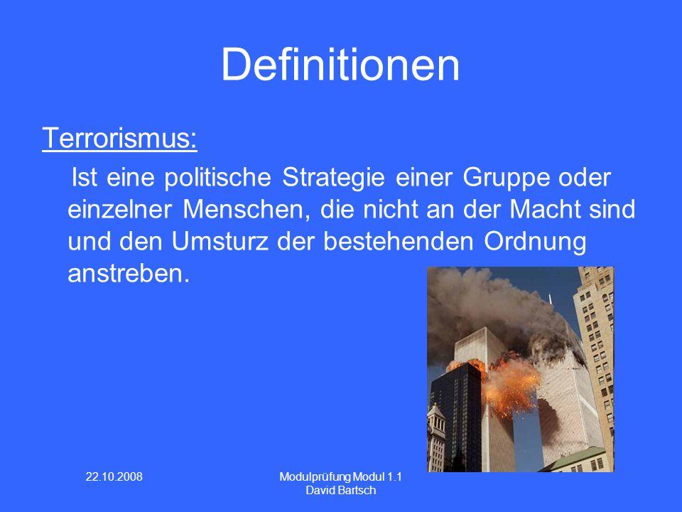 Definitionen Terrorismus:
