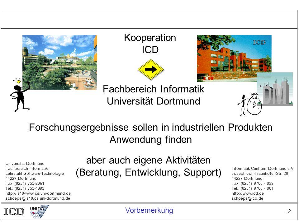Fachbereich Informatik Universität Dortmund