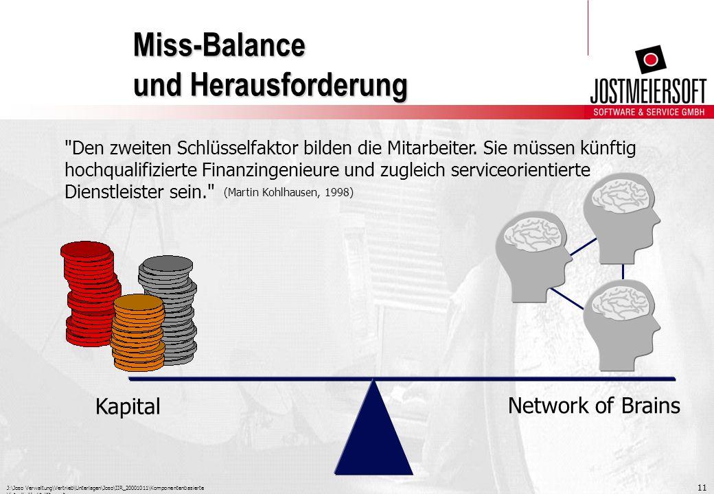 Miss-Balance und Herausforderung