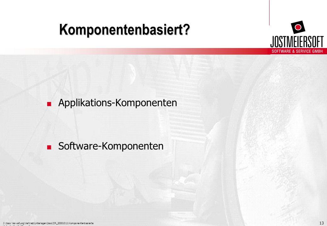 Komponentenbasiert Applikations-Komponenten Software-Komponenten
