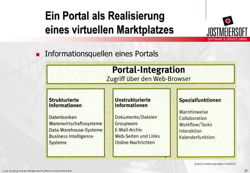 Ein Portal als Realisierung eines virtuellen Marktplatzes