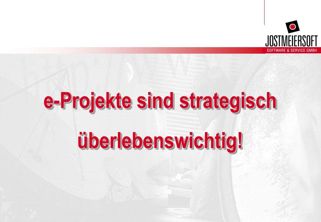 e-Projekte sind strategisch überlebenswichtig!