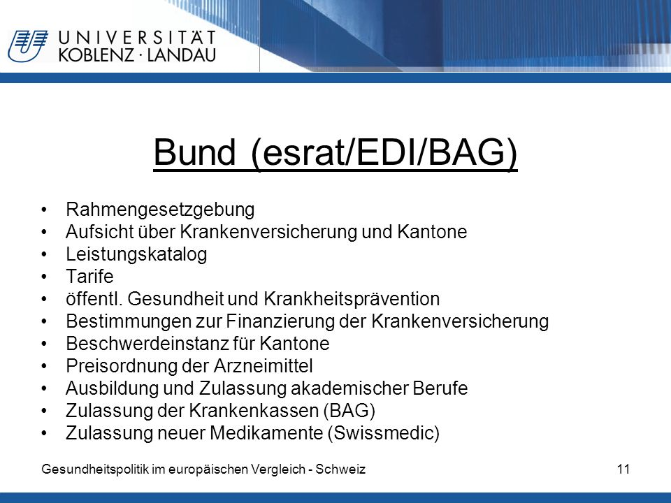 Bund (esrat/EDI/BAG) Rahmengesetzgebung