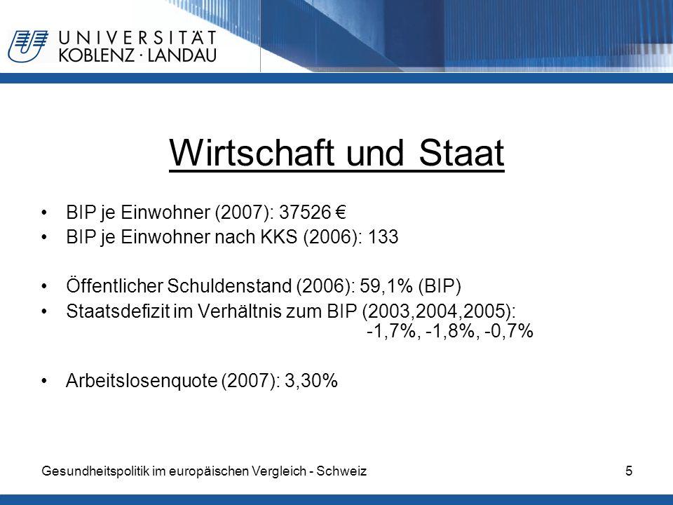 Wirtschaft und Staat BIP je Einwohner (2007): 37526 €