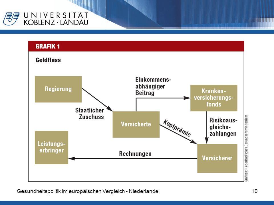 Gesundheitspolitik im europäischen Vergleich - Niederlande