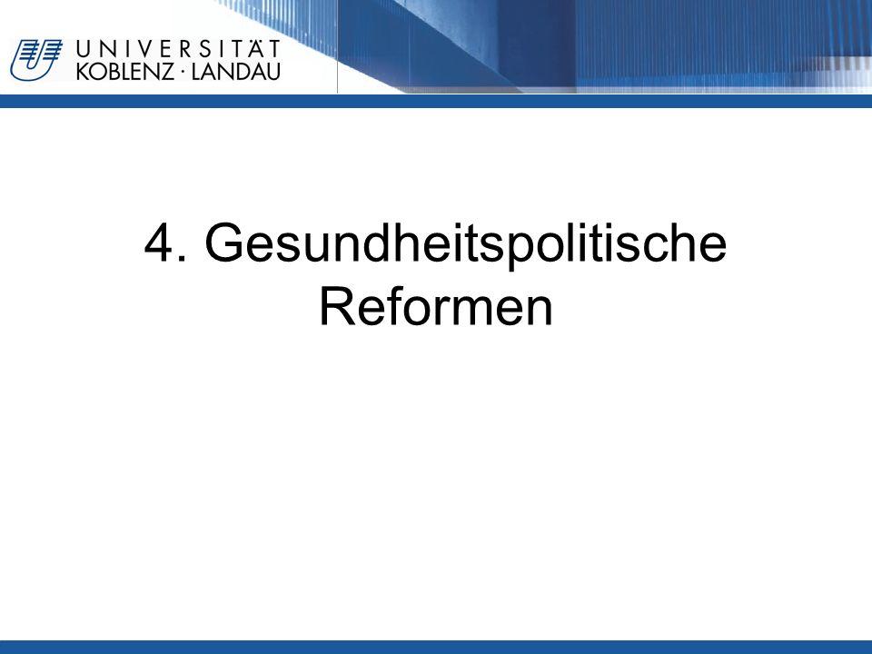 4. Gesundheitspolitische Reformen