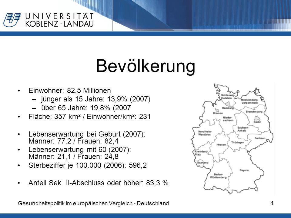 Bevölkerung Einwohner: 82,5 Millionen