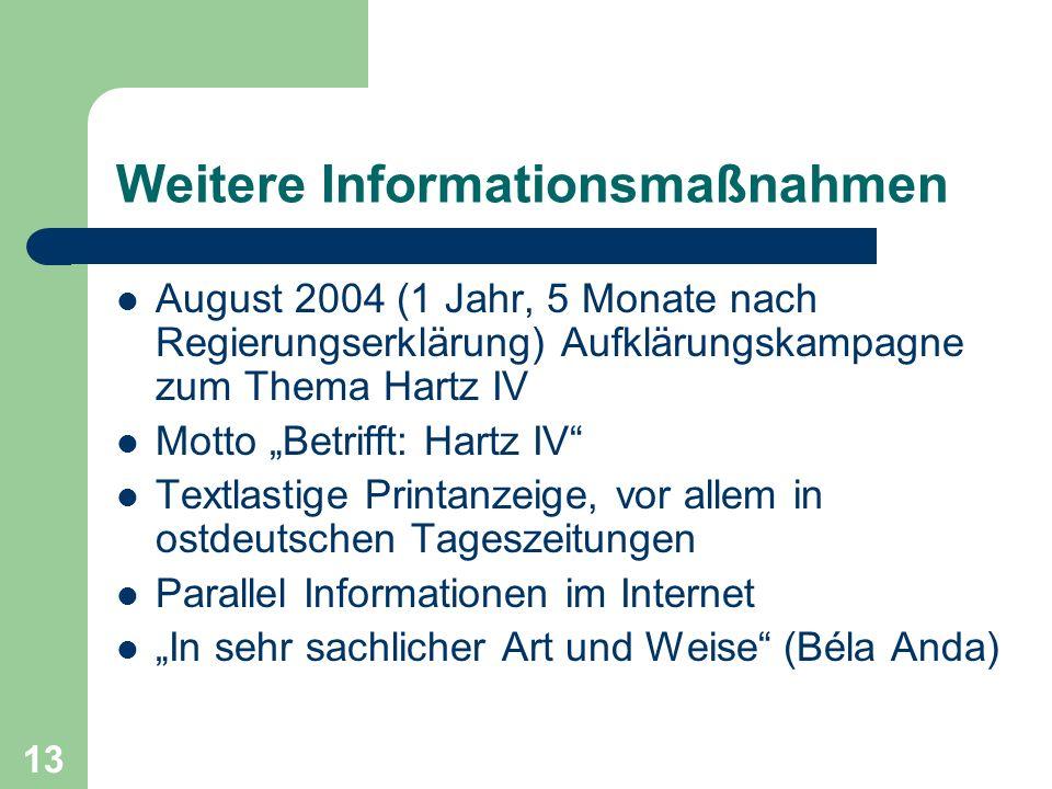 Weitere Informationsmaßnahmen