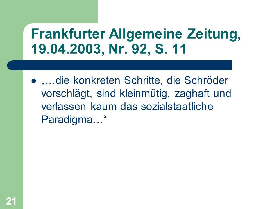 Frankfurter Allgemeine Zeitung, 19.04.2003, Nr. 92, S. 11