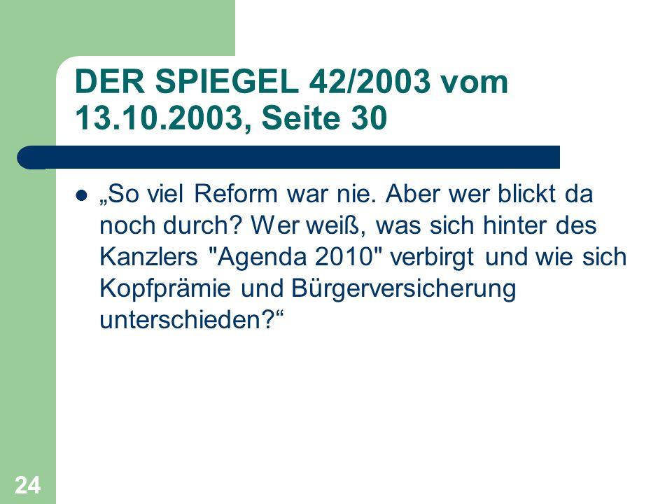 DER SPIEGEL 42/2003 vom 13.10.2003, Seite 30