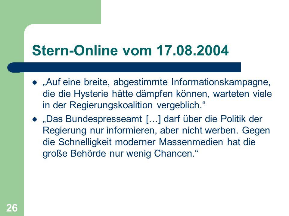Stern-Online vom 17.08.2004