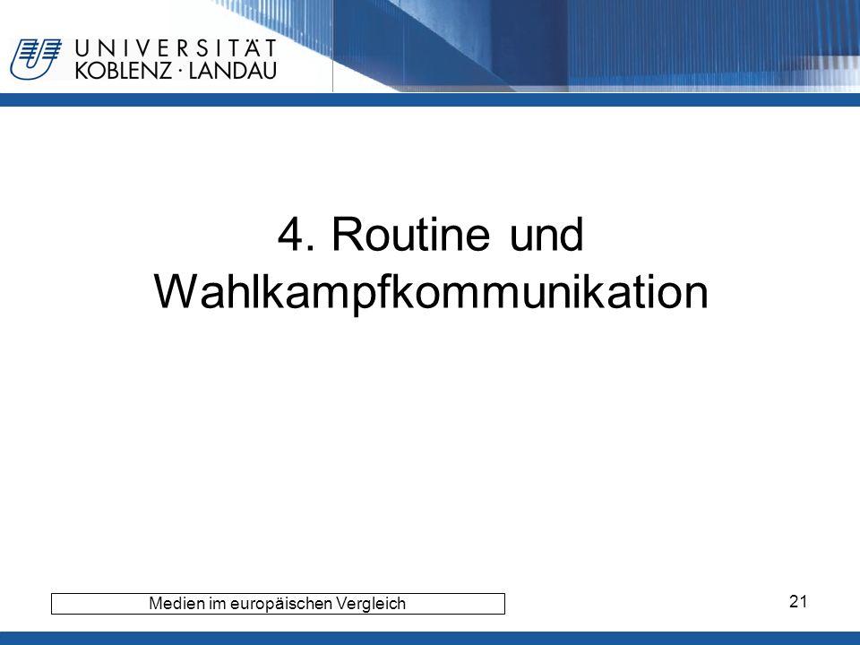4. Routine und Wahlkampfkommunikation