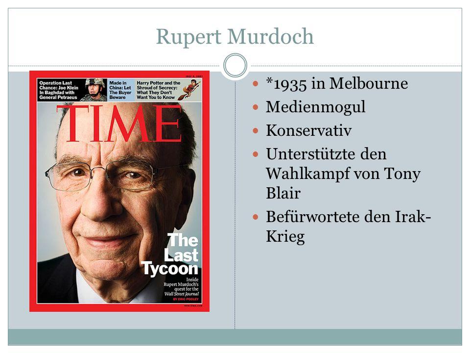 Rupert Murdoch *1935 in Melbourne Medienmogul Konservativ
