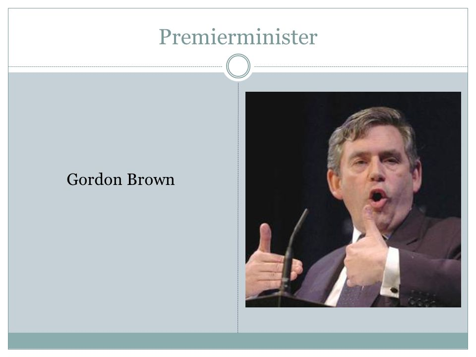 Premierminister Gordon Brown