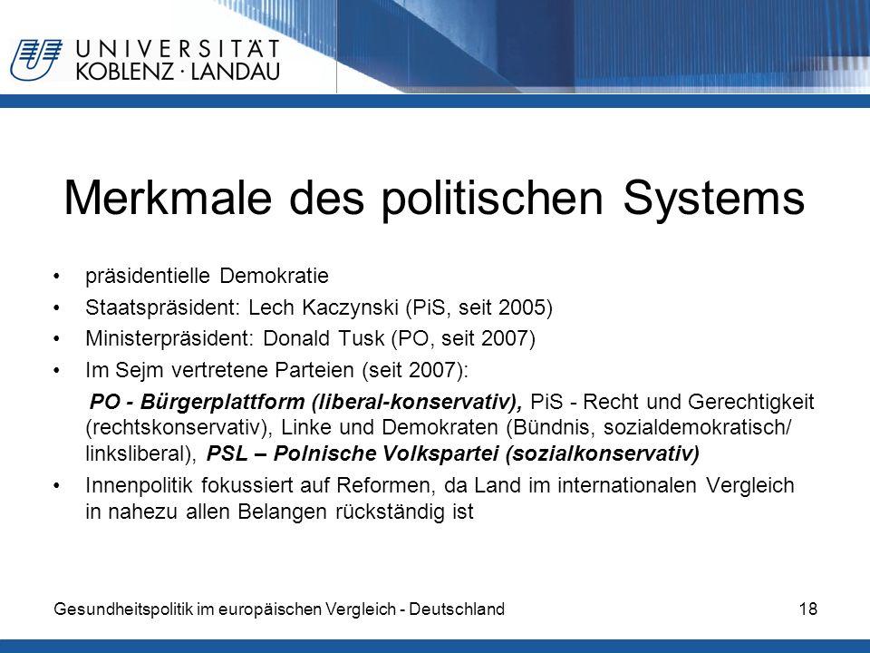 Merkmale des politischen Systems