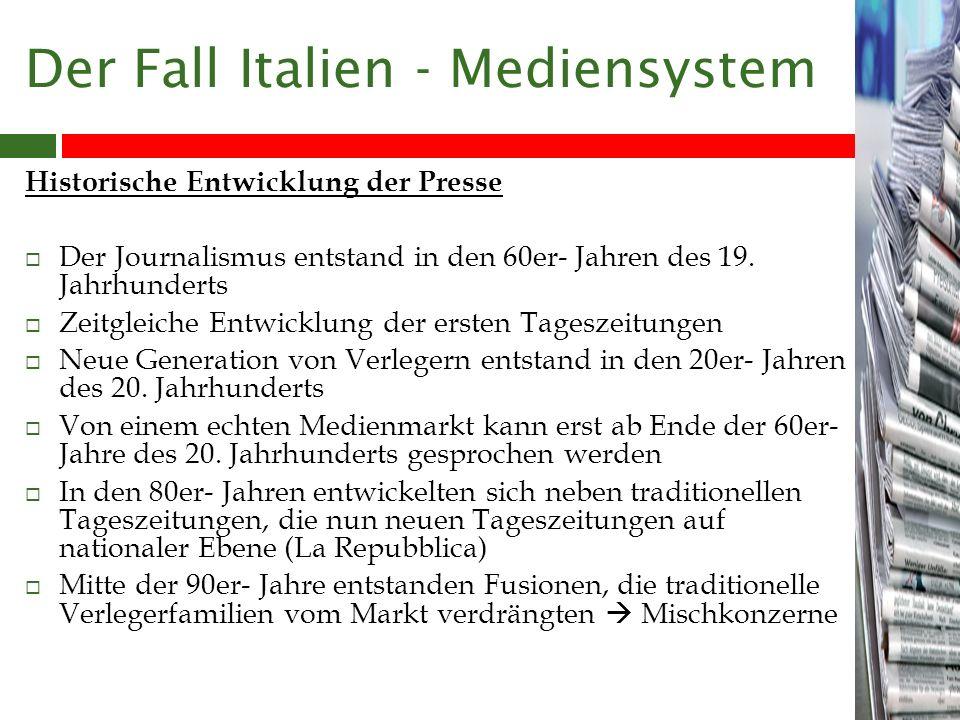 Der Fall Italien - Mediensystem