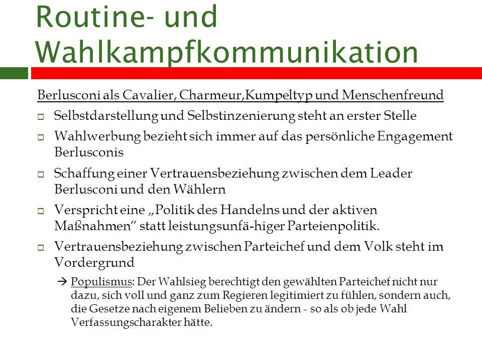 Routine- und Wahlkampfkommunikation