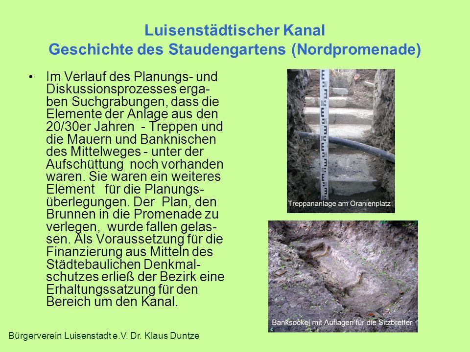 Luisenstädtischer Kanal Geschichte des Staudengartens (Nordpromenade)