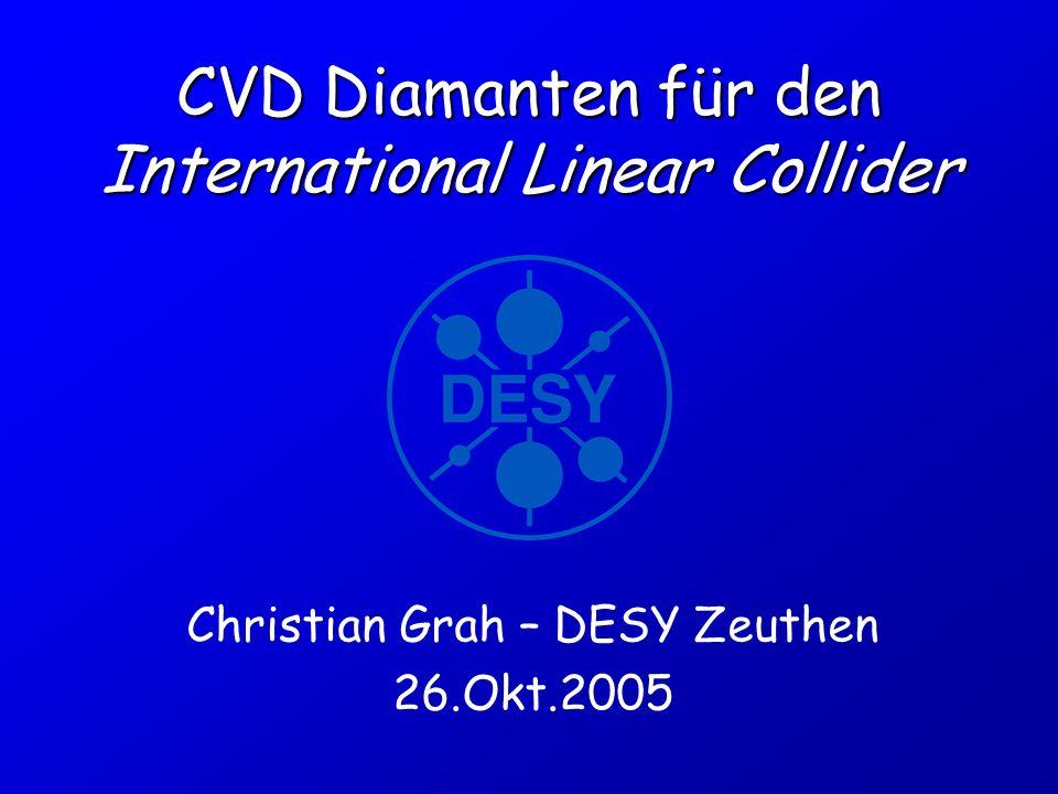 CVD Diamanten für den International Linear Collider