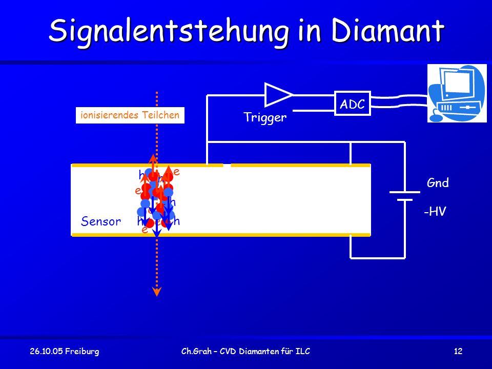 Signalentstehung in Diamant