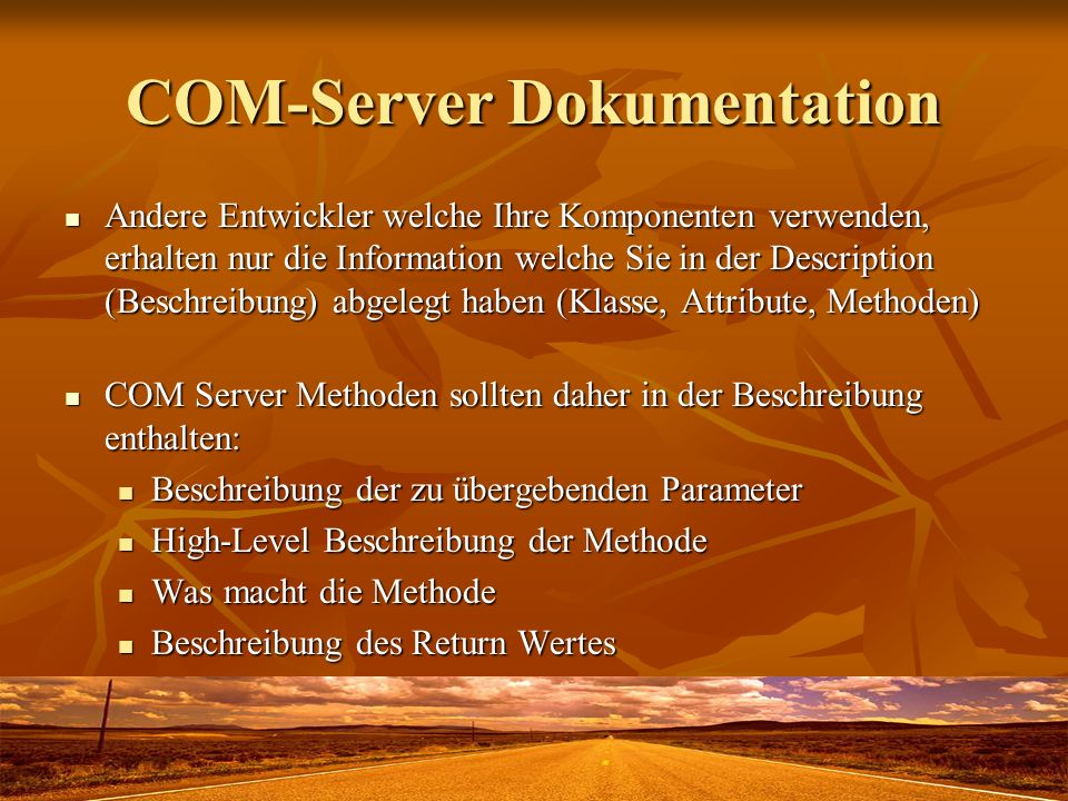 COM-Server Dokumentation