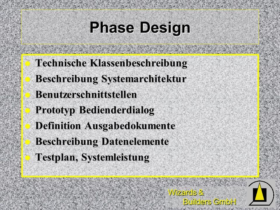 Phase Design Technische Klassenbeschreibung
