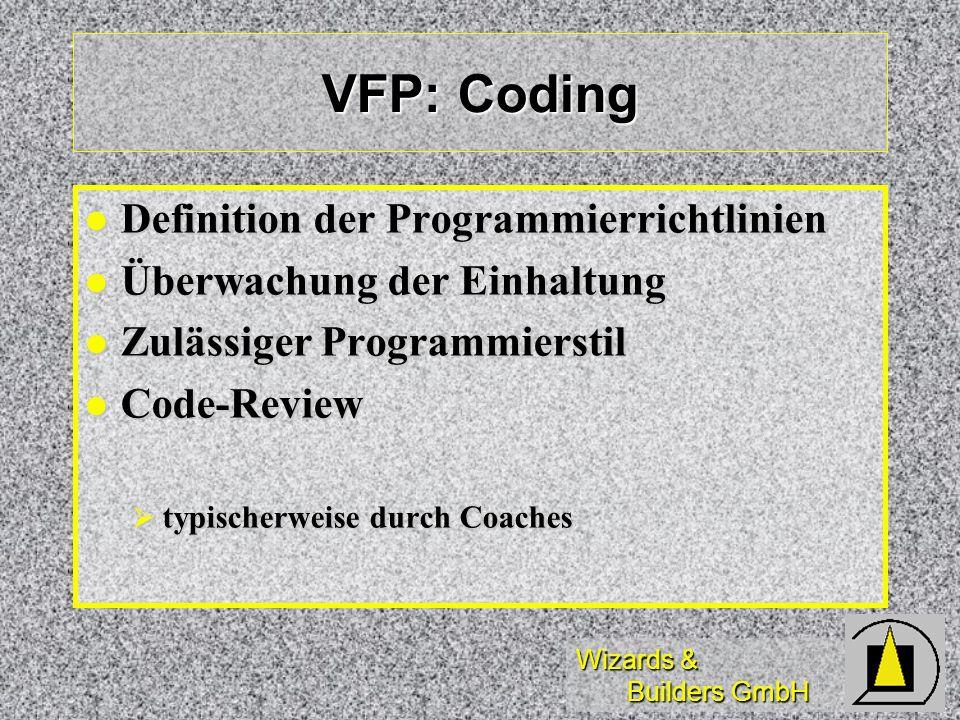 VFP: Coding Definition der Programmierrichtlinien