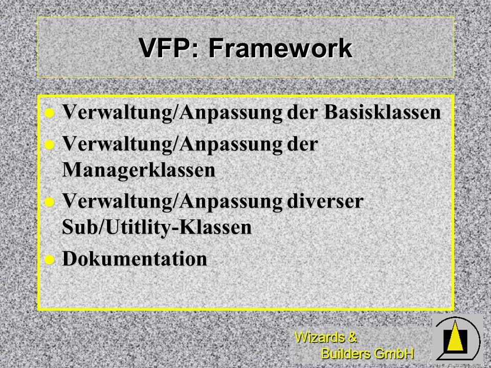 VFP: Framework Verwaltung/Anpassung der Basisklassen
