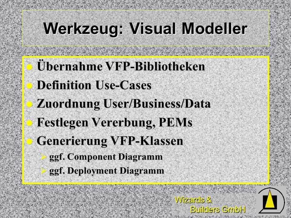 Werkzeug: Visual Modeller
