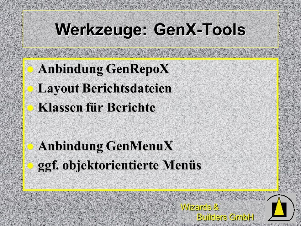 Werkzeuge: GenX-Tools