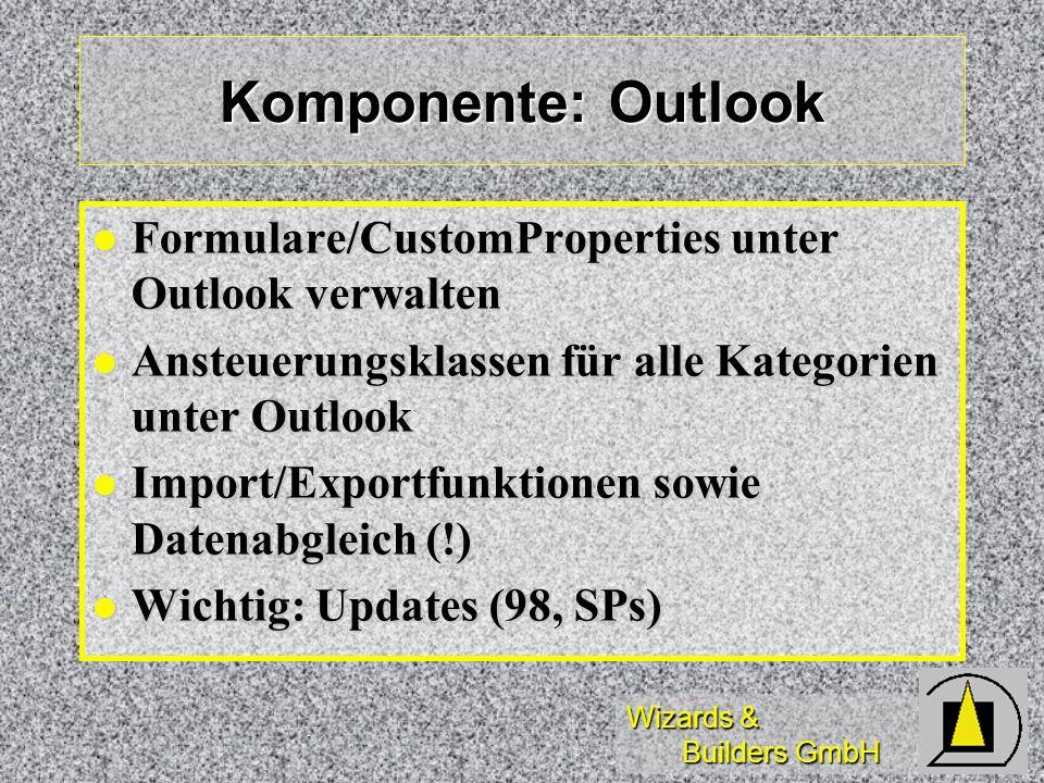 Komponente: Outlook Formulare/CustomProperties unter Outlook verwalten